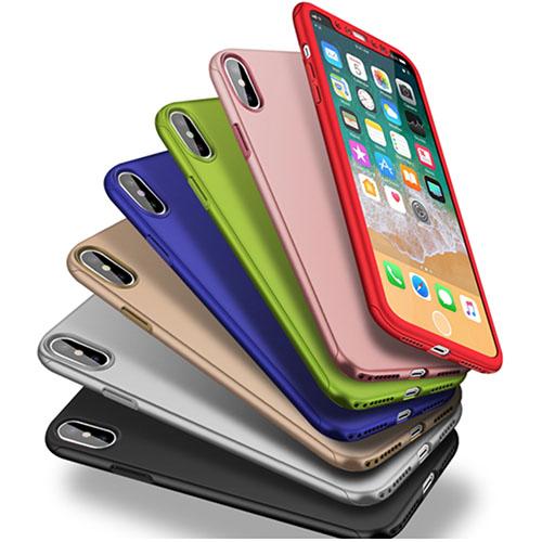 iPhone X 360º Ultra Thin Hard Hybrid Case & Tempered Glass