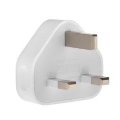 USB Plug / Socket 3 Pin UK Mains Charger For Mobile Phones