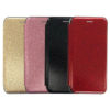 Slim Fitting Fashion Wallet Case With Magnetic Closing & Glitter Effect