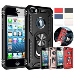 iPhone SE / 5s / 5 Hybrid Dual-Layer Armour Case With Magnetic Ring Stand