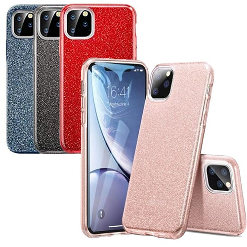 iPhone 11 Dual-Layer Glitter Protective TPU Gel Case