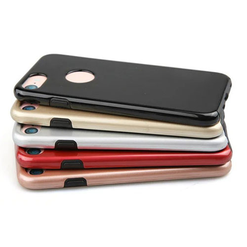 iPhone 7 Hard Hybrid PC & TPU Gel Case With Protective Screen Film