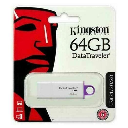 Kingston DataTraveler G4 64GB USB 3.1 Flash Stick Pen Memory Drive